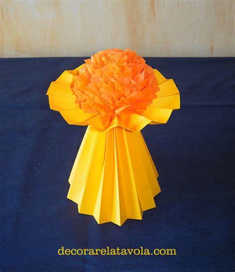 vasi di carta vaso e fiori di carta per decorare la tavola decorare la