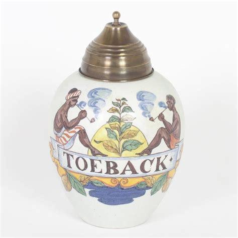 Pair 2 Large Antique Style Koi Lidded Jar Vase Blue White New What S It Worth Pair Of Vintage West Indies Style Tobacco Jars At 1stdibs