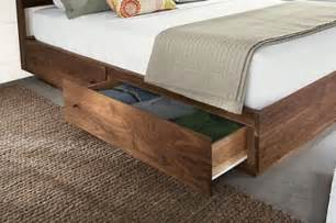Free Plans For Platform Bed With Drawers by Wood Storage Bed Design Ideas