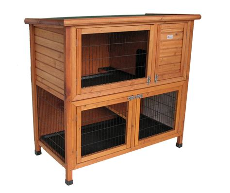 Hutches For Guinea Pigs Deluxe Double Decker Rabbit Guinea Hutch With Legs Hvy