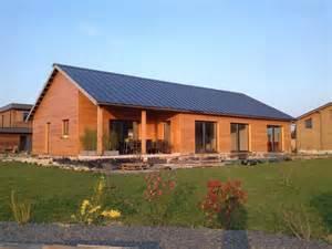 maison moderne ossature bois kit bardage bois couleur