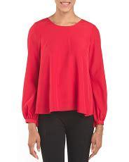 Delona Blouse 1 sleeve flare blouse