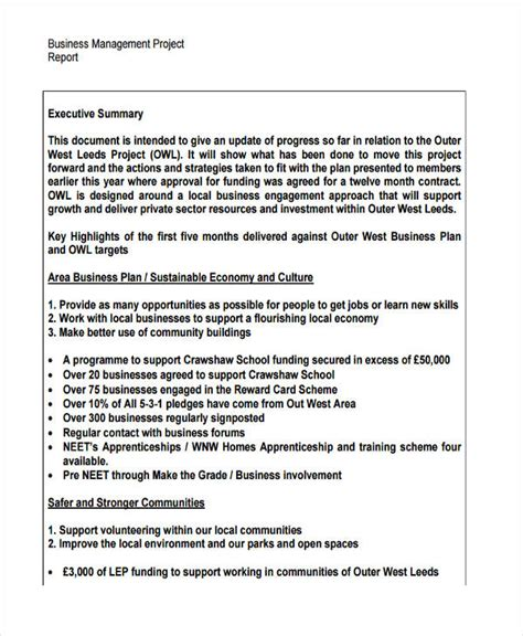 sle of business report assignment 23 project report exles sles pdf word