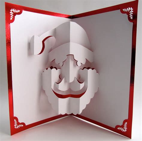 How To Make A 3d Santa Out Of Paper - 30 pop up cards hative