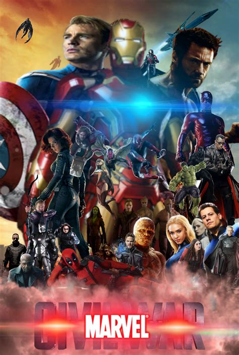 film epic war marvel civil war epic movie poster fan made by mrvideo