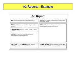 equipment fault report template a3 reports