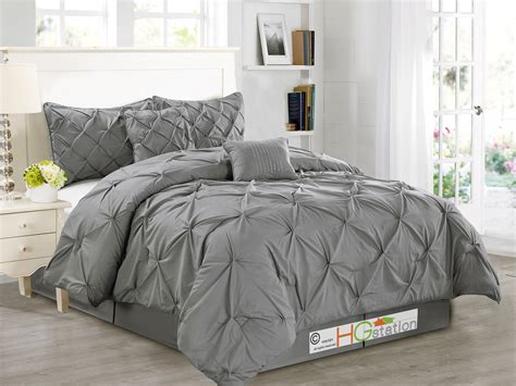 gray pintuck comforter throw pillows for grey bedding bedding sets collections