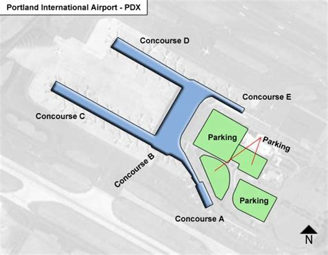 portland airport map pdx portland airport terminal maps