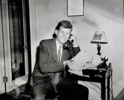 early life john f kennedy jfk photographs during caign to be us congressman to be
