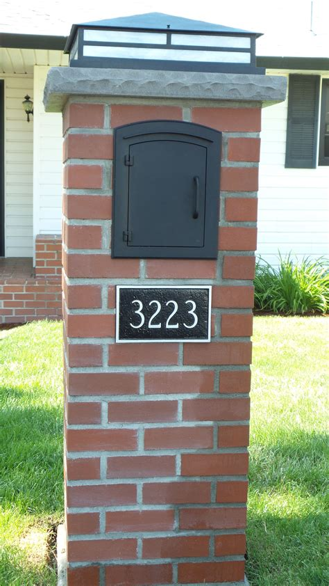 light in the box number custom brick mailbox by rod muilenburg i the light