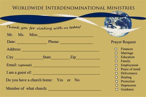Visitor Card Church Template by Welcome To Rhema Church Cards Jesus Is Lord