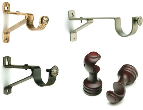 where to put brackets for curtain rod curtain rod brackets buy drapery hardware brackets