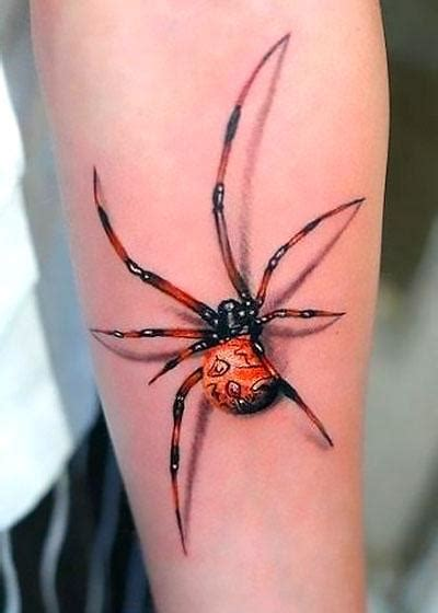 beautiful 3d spider tattoo idea