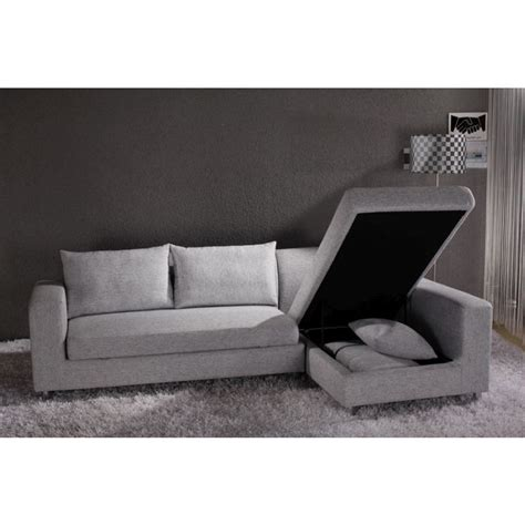 Chaise Lounge Sofa Bed Fabric Sofa Bed W Storage Chaise Lounge In Grey Buy Sofa Beds