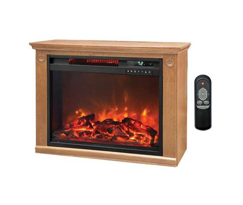 lifesmart infrared fireplace lifesmart large room infrared fireplace heater ls