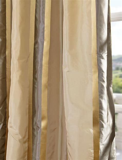striped taffeta curtains wilmington taffeta silk stripe curtain window treatments