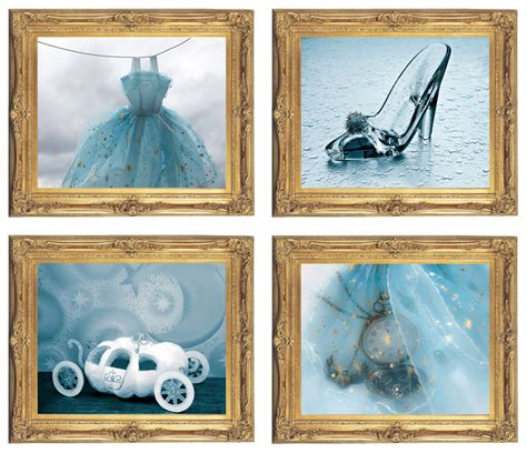 cinderella bedroom decor cinderella wall art digital download set of 4 cinderella