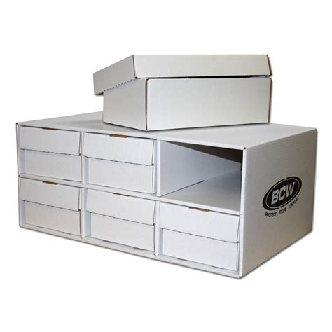 shoes box house bcw corrugated cardboard shoe box storage house with 6 trading card 2 row boxes ebay