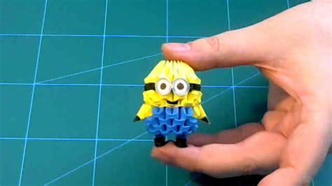 tutorial origami 3d minion 3d origami small minion tutorial diy paper small minion