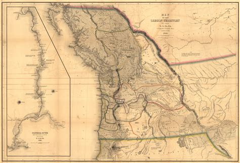 map of oregon territory bungled borders in the pacific northwest part 1 worlds