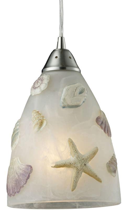 Coastal Ceiling Lights by Elk Ltg Seashore Seashell 1 Light Mini Pendant Ceiling