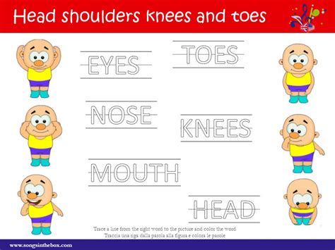 head shoulders knees and toes pictures to pin on pinterest