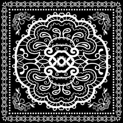 Neck Scraf Syall Limited Stock black bandana print silk neck scarf or kerchief stock photo image 58051264