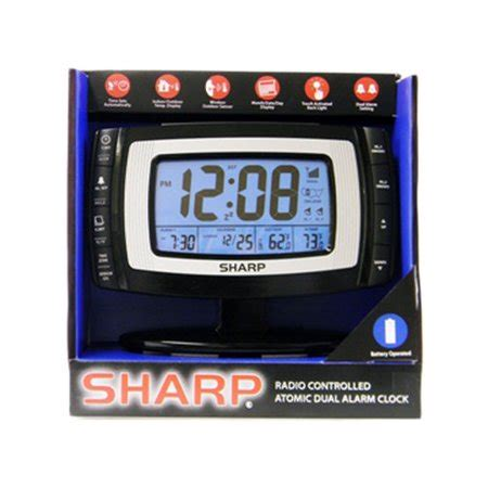 sharp atomic dual alarm weather clock walmart