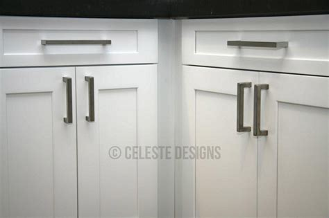 handles for kitchen cabinets and drawers square bar pulls by celeste designs on white kitchen