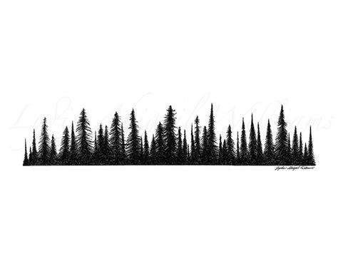 tree line tattoo tree line silhouette pine tree line silhouette