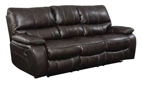 Two Tone Reclining Sofa Coaster Willemse Reclining Sofa Two Tone Brown 601931 At Homelement