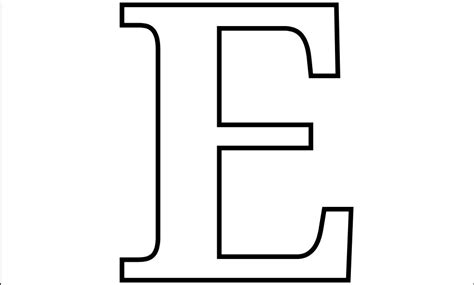 e template 6 best images of large printable letter e letter e
