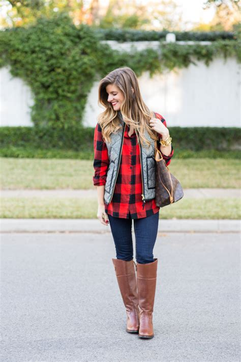 Casual Trend Alert Plaid Shirts Andjeans by Casual Fall Herringbone Vest And Plaid Boots