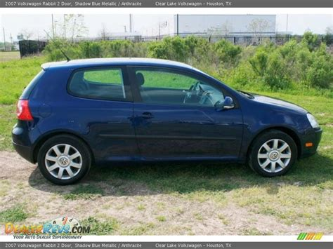 volkswagen rabbit 2 door 2007 volkswagen rabbit 2 door shadow blue metallic