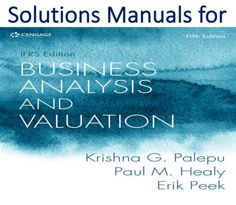 solutions manual  business analysis  valuation
