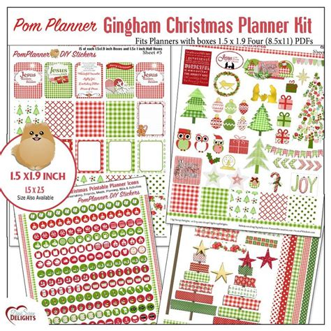 printable christmas planner stickers free christmas planner stickers printable tags