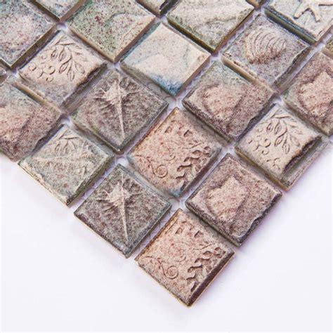 Wholesale Porcelain Tile Mosaic Grey Square Ocean