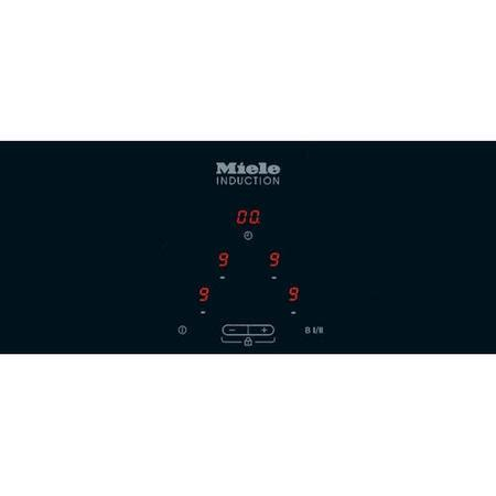 miele km6115 electric induction hob grade a2 miele km6115 57cm 4 zone induction hob with stainless steel trim 77436407 1 km6115
