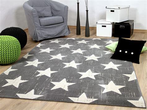teppich sterne grau soft touch velours designer teppich canvas sterne grau