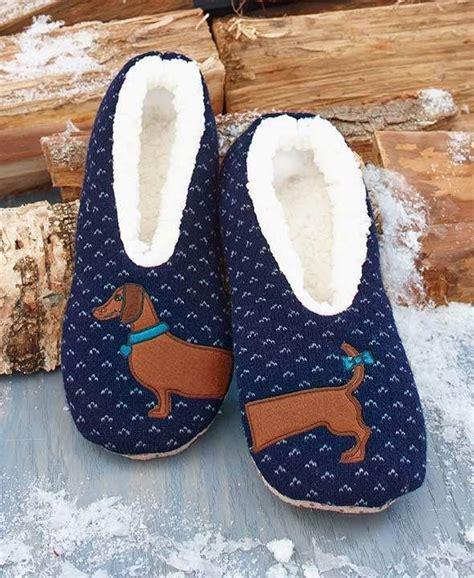 daschund slippers sherpa s blue wiener slippers dachshund