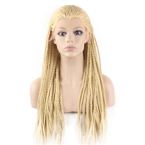 pics com of com light hair in front and shark in back 4cheap synthetic braiding light blonde hair wig full long