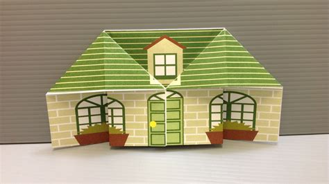 Folded Paper House - free origami house paper print your own houses