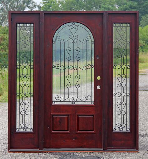 wrought iron front wood and iron front doors wrought iron wood entry doors