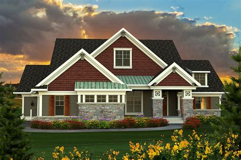 ranch plan with large great room 89918ah architectural