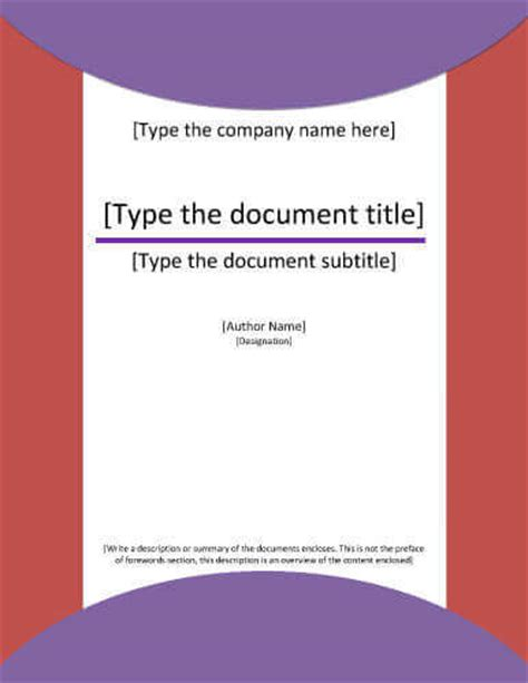 covering letter for project report 7 report cover page templates for business documents