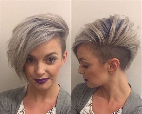 steep asymetrical side shave bob haircuts 20 short hairstyles for girls with or without curls 1