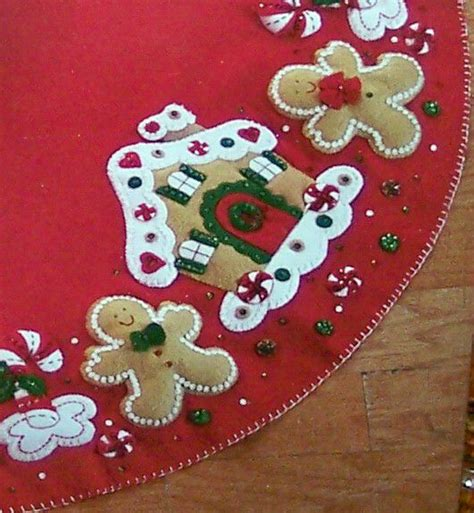 felt gingerbread tree skirt quot felt quot wonderful pinterest