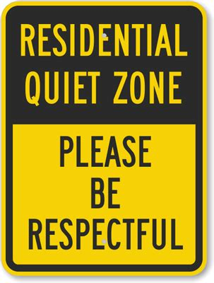 printable quiet signs quiet zone please be respectful sign sku k 5938