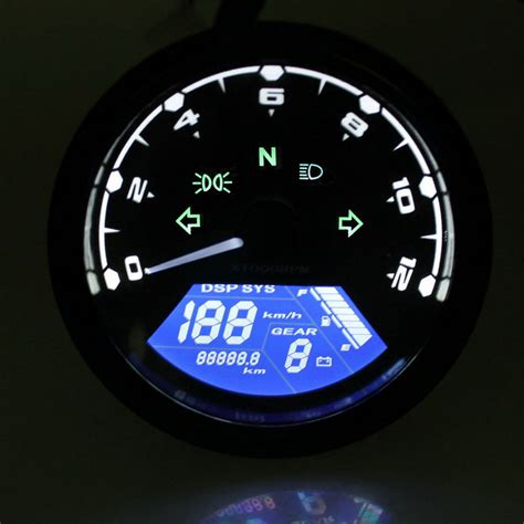 Led Speedometer Motor 12v lcd digital speedometer odometer motorcycle motor bike with led free shipping dealextreme