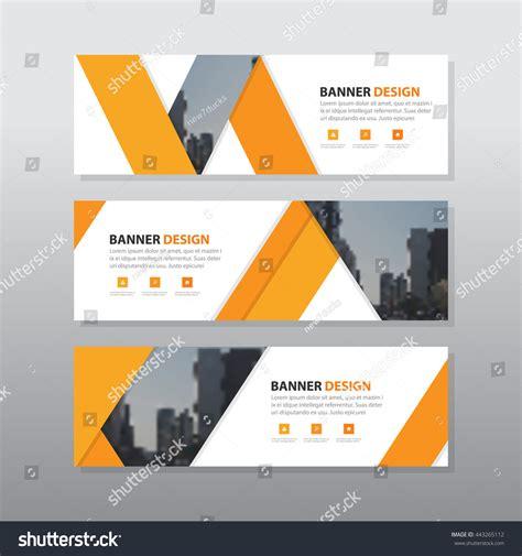 design banner orange orange triangle abstract corporate business banner stock